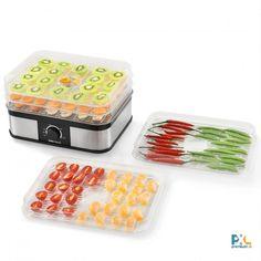 Pomocou tohto produktu je možné ľahko a úsporne usušiť veľa druhov rôznych potravín: okrem iného ovocie, zeleninu, koreniny, bylinky, mäso alebo ryby. Výkon: 250 W, materiál: plast, celkové rozmery (D x Š x V): 32 x 25 x 30 cm, produkt značky [neu.haus]®