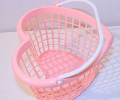 Wallpapers Pink heart shaped basket on We Heart It