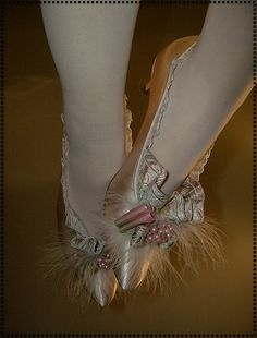 Marie Antoinette Pink Champagne Shoes by ohairas, via Flickr