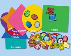 Shape Sorting Center ~ got it!  Looks like it will be a fun activity to put out in a center