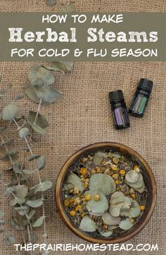 How to make an herbal steam (3 ways!) for respiratory support during cold and flu season