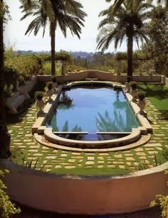 same shape as my pool - but with grass!!