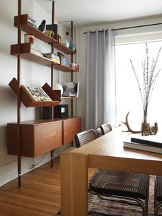 I love this!!!  Narrow Mid Century Modern Dining Table Design, Pictures, Remodel, Decor and Ideas - page 3