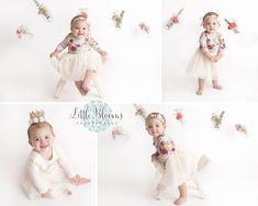 Simple white birthday session, floral, pink flowers, mason jars, first birthday Cake Smash Pictures, Chadds Ford, Birthday Cake Smash, Photographing Babies, Photoshoot Inspiration, Baby Things, Family Photographer, Newborn Photography, Pink Flowers