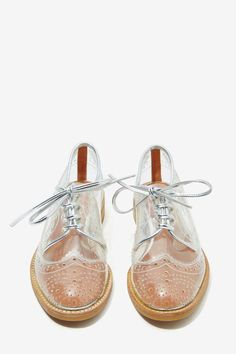 Jeffrey Campbell Townsend Transparent Oxford Shoes