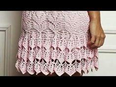 Crochet Summer Dresses, Crochet Diagram, Crochet Projects, Aurora, Knit Crochet, Bob, Knitting, Youtube, Fashion