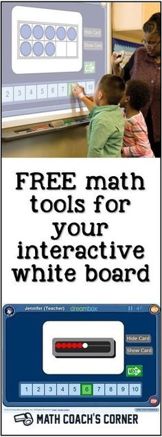 Great FREE math tools to use with your interactive white board! Great whiteboard activities for the classroom.