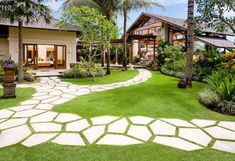 Garden paths design – ideas for stepping stones