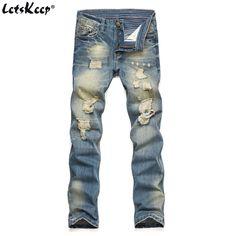 ef95af9e3267 LetsKeep 2017 New slim skinny Denim jeans men streetwear ripped holes jeans  trousers casual spring jeans