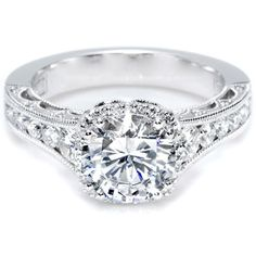 Tacori Channel-Set and Pave Round Diamond Engagement Ring