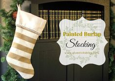 Painted Burlap Stocking | Gluesticks