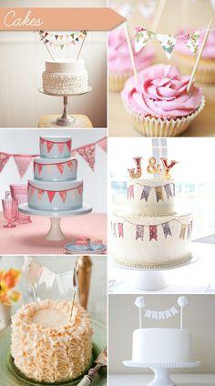 Sweet bunting themed post on One Fab Day today, such pretty inspiration!  (add: DIY $7 Custom Chocolate Wrapper Printables: www.customweddingprintables.com)