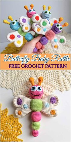 You'll find here Crochet Baby Accessories, baby booties, and more crochet patterns. All of these patterns are gorgeous and I hope you will really love them. You'll find here Crochet Baby Accessories, baby booties, and more crochet patt. Crochet Baby Toys, Crochet Baby Sandals, Baby Girl Crochet, Crochet Gifts, Free Crochet, Booties Crochet, Crochet Accessories, Baby Accessories, Butterfly Baby