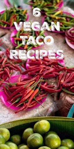 6 Vegan Taco Recipes for Your Cinco de Mayo Fiesta - includes some slow cooker recipes too!
