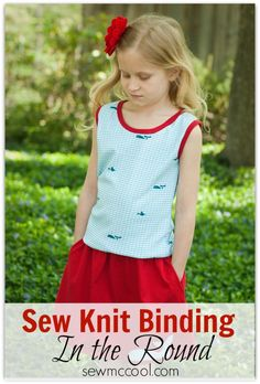 How to sew knit binding in the round by sewmccool.com
