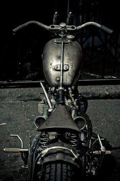 Black and White bobber? Moto Guzzi Cafe Custom yamaha cafe racer BMW Cafe Racer - Pipeburn - Purveyors of Classic Motorcycles, Cafe Ra. Triumph Motorcycles, Cool Motorcycles, Vintage Motorcycles, Retro Bikes, Vintage Bikes, Yamaha 535 Virago, Tw Yamaha, Harley Davidson, Mad Max