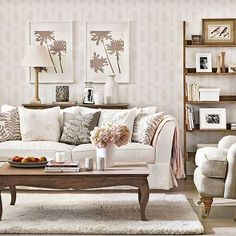Relaxed neutral living room   Living room decorating   Ideal Home   Housetohome.co.uk