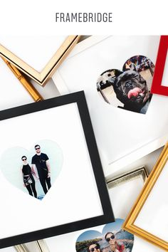 For a limited time: photos from your Instagram feed can be printed and custom framed with heart-shaped mats. Just $39, shipped for FREE.