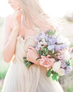We would frame this photo it's so pretty! http://www.stylemepretty.com/2015/07/21/dreaming-in-a-lavender-field-wedding-inspiration/ | Photography: Sally Pinera - http://sallypinera.com/