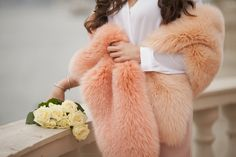 Two toned fur scarf by #ADAMOFUR