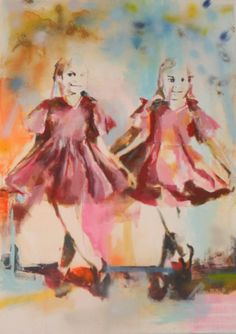 Simona Stoia - Harmless - Acrylverf en spray op doek - Gemeentelijke School Beeldende Kunst Overijse Art, Painting