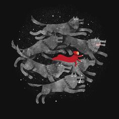 """""""Run with the pack"""" Art Print by Wharton on Society6."""