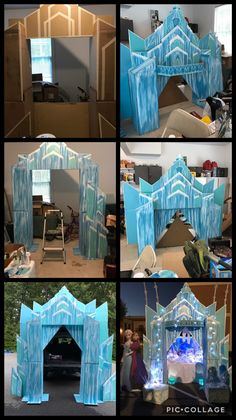 Frozen Trunk or Treat Castle theme, this is the steps I did to create this amazi. Frozen Trunk or Elsa Birthday Party, Frozen Themed Birthday Party, Disney Frozen Birthday, 4th Birthday Parties, Frozen Princess Party, Olaf Party, Frozen Party Games, Christmas Birthday Party, Third Birthday