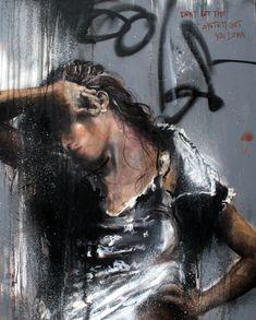 CECILE DESSERLE Dont let the system get you down Format 81 x 100 cm Huile sur toile | Cécile Desserle - Site Officiel