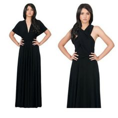 Infinity Convertible Wrap Maxi Dress is called the Infinity Dress because there are many ways to wear it.This dress is extremely comfortable & easy to wear