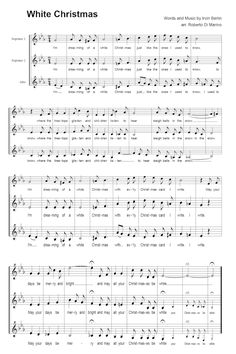 aesthetically pleasing christmas sheet music white christmas song white christmas decorations christmas lyrics - White Christmas Song