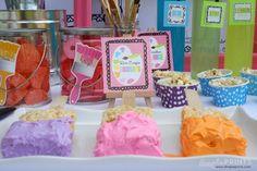 Girly Art Party With So Many Cute Ideas via Kara's Party Ideas   KarasPartyIdeas.com #Artist #Painting #Bright #Party #Ideas #Supplies (19)