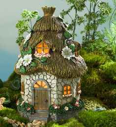Miniature Fairy Garden Round Solar Cottage Gardens Mini