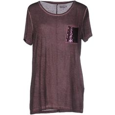 Only T-shirt ($27) ❤ liked on Polyvore featuring tops, t-shirts, deep purple, jersey tee, purple tee, deep purple t shirt, short sleeve tops and sequin t shirt
