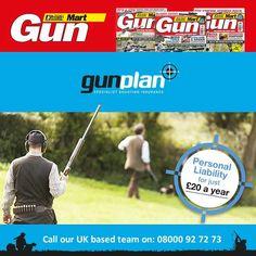Gunmart- Personal liability cover just 20  a FREE confirmation card. Read the full article on FRL Shooting News.. http://ift.tt/1JNynCR #Gunmart #Gunplan #Shooting #ShootingSeason #ShootingInsurance #Membership #Onlinemagazine