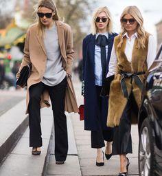 Street fashion z Copenhagen Fashion Week jesień-zima 2016/2017, fot. Imaxtree