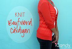 icandy handmade: (tutorial and pattern) Everyday Basics 5: Knit Boyfriend Cardigan