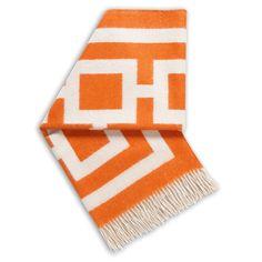 Jonathan Adler Nixon Orange Throw Blanket @Zinc_Door