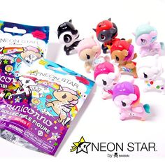 """7849650b5d Neon Star on Instagram  """"⭐ 💖🦄🌈 Check out these cuties! Introducing our  new  NeonStar by  tokidokibrand Unicorno Series 1 blind bag figures!"""