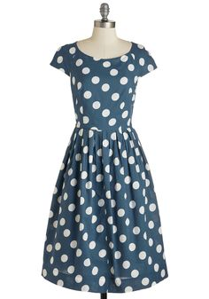 Unmatched Panache Dress in Navy Dots, @ModCloth