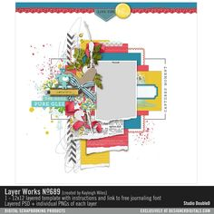 Layer Works No. 689- Studio Double-D Templates- LT443301- DesignerDigitals