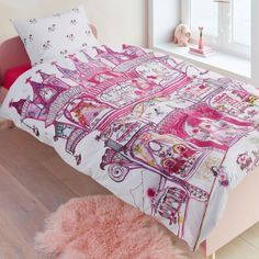 Fairy Palace quilt cover set features a stunning design of fairies inhabiting a castle. Available in single bed size and perfect for girls or any children that love fairies.