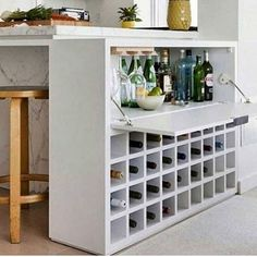Cool 45 Gorgeous Minibar Designs Ideas For Your Kitchen Mini Bars, Liquor Storage, Wine Cabinets, Cabinet Design, Bars For Home, Mini Bar At Home, New Kitchen, Kitchen Wood, Hidden Kitchen