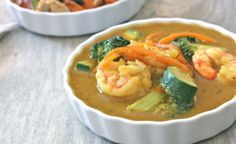 Thai Yellow Curry with prawns - from Against All Grain #Paleo #whole30