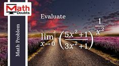 Learn how to Evaluate Limit of Exponential function as x approaches 0 in Limits Calculus Mathematics Problem Limits Calculus, Math Problems, Problem And Solution, Mathematics, This Or That Questions, Learning, Math, Studying