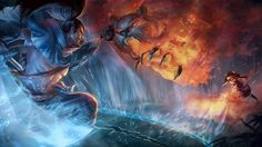Yasuo vs Annie Tibbers League of Legends Game Art 1600x900
