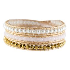 Coral, Rose Gold & Pearl Crystal Wrap Elegant, Fun & Classy. I lover every single crystal wrap.