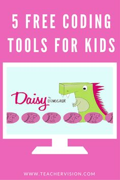 Check out Daisy the Dinosaur and 4 more free coding tools for kids (Ages 5+) | Hour of Code Apps  #HourOfCode #CSEdWeek