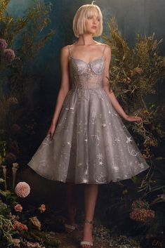 Constellation Corset Tulle A-line Cocktail Andrea Leo – Sparkly Gowns Ball Dresses, Ball Gowns, Short Dresses, Formal Dresses, Wedding Dresses, Corset Dresses, Short Corset Dress, Bustier Dress, Bridesmaid Gowns