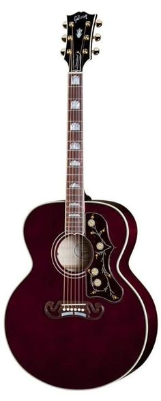 Limited edition Gibson Super Jumbo in Wine Red. Gorgeous.