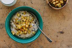 quinoa porridge w/ orange + rosemary apple